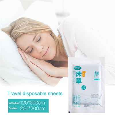 Portable Travel 120*200cm Disposable Bed Sheets