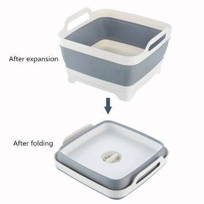Multifunctional Collapsible Sink Drain Basket