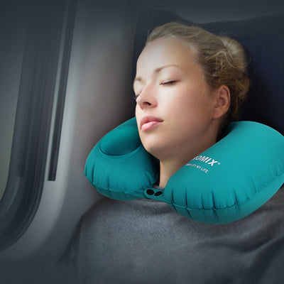 Portable Inflatable U-Shape Travel Car Pillow