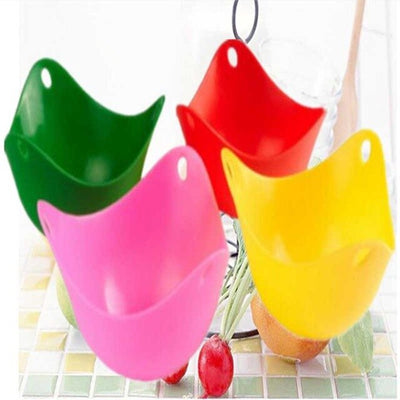 Lot Silicone Egg Poaching Cups - 4 Pcs