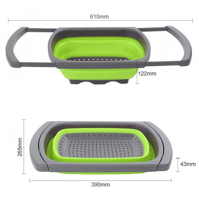Silicone Collapsible Colander Strainer