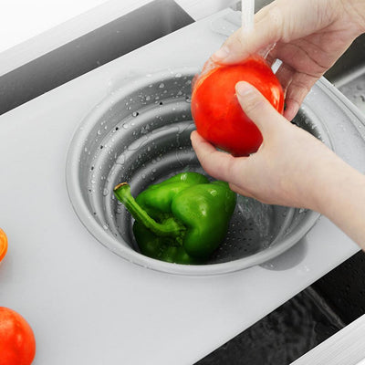 Multi Purpose Cutting Board Cum Sink Colander (Chop and Drain)