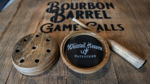 Black Aluminum Engraved Bourbon Barrel Turkey Call