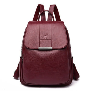2019 Women Leather Backpacks High Quality Female Vintage Backpack For Girls School Bag Travel Bagpack Ladies Sac A Dos Back Pack