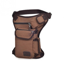 Load image into Gallery viewer, Men Canvas Drop Leg Bag Waist Bag Fanny Pack Belt Hip Bum Military travel Multi-purpose Messenger Shoulder Bags 6 Colors