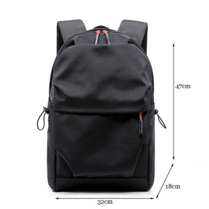 New Men Backpack for 15.0 Inches Laptop Back Pack Large Capacity Stundet Backpacks Pleated Casual Style Bag Water Repellent 2019