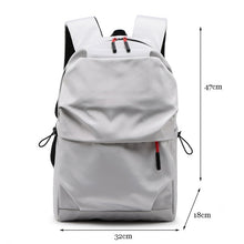 Load image into Gallery viewer, New Men Backpack for 15.0 Inches Laptop Back Pack Large Capacity Stundet Backpacks Pleated Casual Style Bag Water Repellent 2019