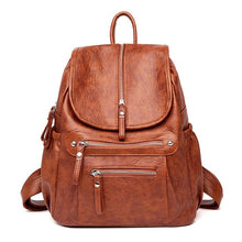 Load image into Gallery viewer, Women Backpack Female High Quality Soft Leather Book School Bags For Teenage Girls Sac A Dos Travel Back pack Rucksacks Mochilas