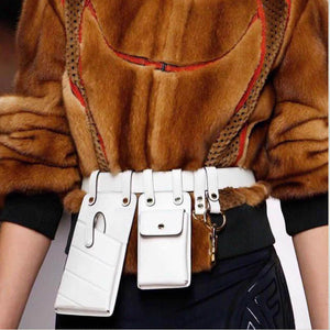 Women Waist Bag Fashion Leather Waist Belt Bag Crossbody Chest Bags Girl Fanny Pack Small Phone Pack shoulder strap Packs A1234