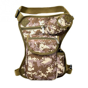 Men Canvas Drop Leg Bag Waist Bag Fanny Pack Belt Hip Bum Military travel Multi-purpose Messenger Shoulder Bags 6 Colors