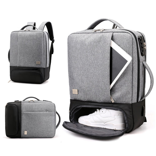 Anti Theft Backpack Women Men Laptop Bagpack 15.6 USB Charger Male Notebook Back Pack Travel School Bag Mochila Black Men's Bags
