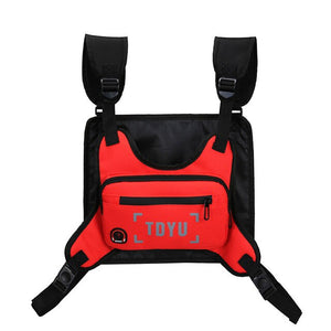 Fashion Chest Rig Bag For Men Waist Bag Hip hop streetwear functional Tactical Chest Mobile Phone Bags Male Fanny Pack Casual