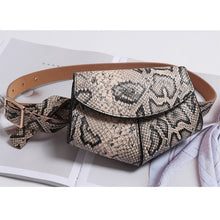 Load image into Gallery viewer, Serpentine Fanny Pack Ladies PU Leather Waist Belt Bag women Mini Disco Waist pack luxury handbags women bag designer chest bag