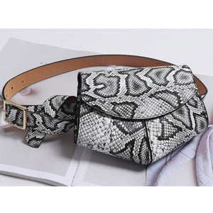 Serpentine Fanny Pack Ladies PU Leather Waist Belt Bag women Mini Disco Waist pack luxury handbags women bag designer chest bag