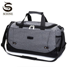 Load image into Gallery viewer, Scione Men Travel Bag Large Capacity Hand Luggage Travel Duffle Bags Nylon Weekend Bags Women Multifunctional Travel Bags