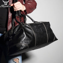 Load image into Gallery viewer, Flanker genuine leather men travel duffle fashion weekend travel bags soft cow leather handbag big shoulder bag large tote bags