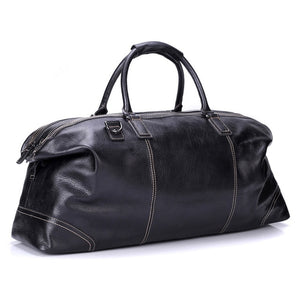 Flanker genuine leather men travel duffle fashion weekend travel bags soft cow leather handbag big shoulder bag large tote bags