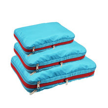 Load image into Gallery viewer, Double Layer Compression Packing Cubes Travel Luggage Organizer Waterproof Packing Cube 7 Colors Large Medium and Small 3 Sets