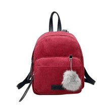 Load image into Gallery viewer, Corduroy Backpacks For Women 2019 Mochila Fashion Winter Casual Style Ladies Solid Color Back Pack For Teen Girls Dropshipping