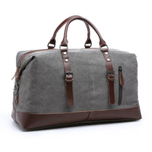 Load image into Gallery viewer, Scione Canvas Leather Men Travel Bags Carry on Luggage Bag Men Duffel Bags Travel Tote Large Weekend Bag Overnight Male Handbag
