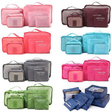 Load image into Gallery viewer, 6 Pieces\set Oxford packing cube  Waterproof Travel  Bag One set  Large Capacity Of  Clothing Sorting Organize Bag