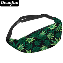 Load image into Gallery viewer, Deanfun 3D Printed Waist bags Green leaves Fanny Pack with Zipper for Women Travelling YB7
