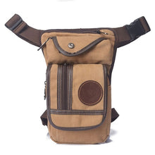 Load image into Gallery viewer, Men Canvas Waist Drop Leg Bag Thigh Hip Belt Bum Fanny Pack Military Tactical Travel Riding Motorcycle Messenger Shoulder Bags