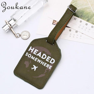 Zoukane Leather Suitcase Luggage Tag Label Bag Pendant Handbag Portable Travel Accessories Name ID Address Tags LT02