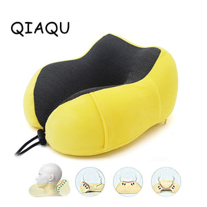 U Shaped Rebound Memory Foam Pillow Travel accessories Neck Pillows Health Care Headrest for Office Packaging Flight Car storage