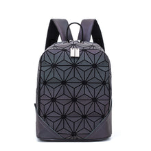 Load image into Gallery viewer, Fashion Women Backpack Mochila Geometric Luminous Backpacks Bagpack Girls Noctilucent Travel Shoulder Bags For School Back Pack