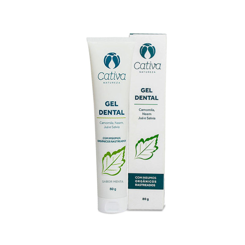 Gel Dental Menta Orgânico Natural Vegano
