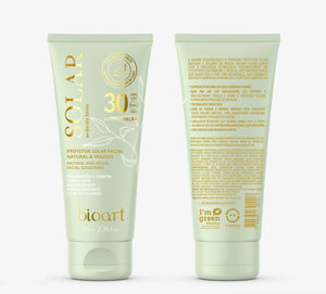 Kit Solar: Protetor Facial Natural Vegano + Bucha Vegetal