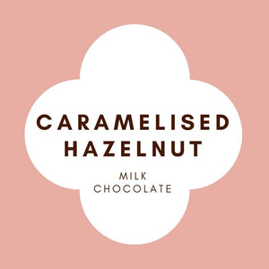 Caramelised Hazelnut  | French Milk Chocolate | 42% Cacao | 80g