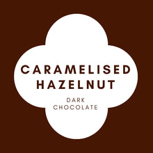 Load image into Gallery viewer, Caramelised Hazelnut  | French Dark Chocolate | 70% Cacao | 80g