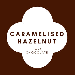 Caramelised Hazelnut  | French Dark Chocolate | 70% Cacao | 80g