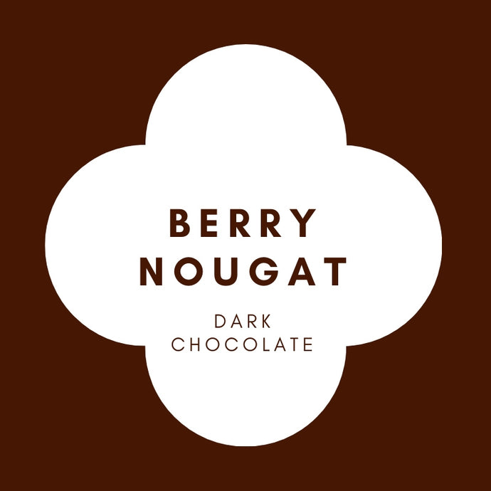Raspberry Nougat | French Dark Chocolate | 70% Cacao | 100g