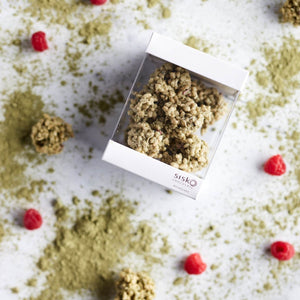 Crackle Clusters | Matcha Raspberry | White Chocolate