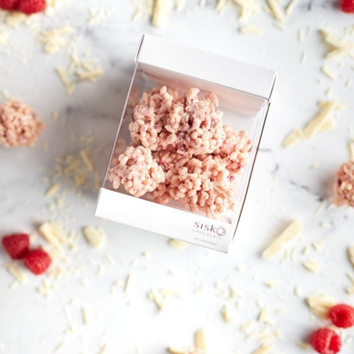 Crackle Clusters | Raspberry  | White Chocolate