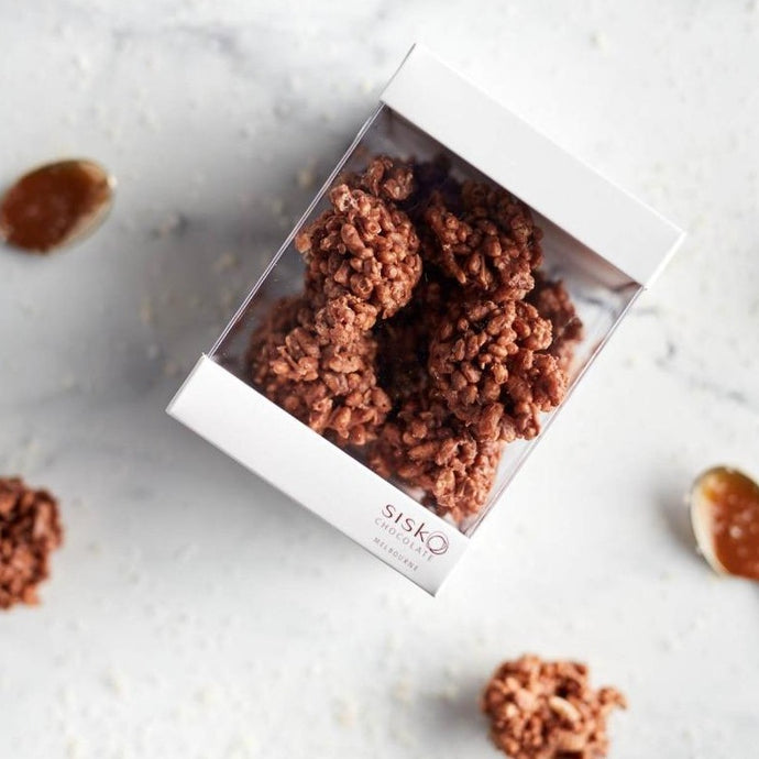 Crackle Clusters | Salted Caramel Chocolate