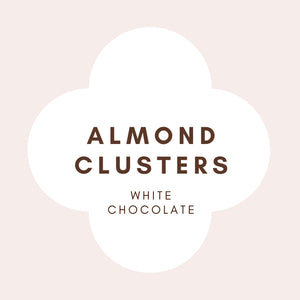 Almond Clusters | French White Chocolate | 29% Cocoa butter | 100g
