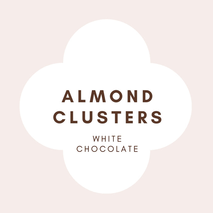 Almond Clusters | French White Chocolate | 31% Cocoa butter | 100g