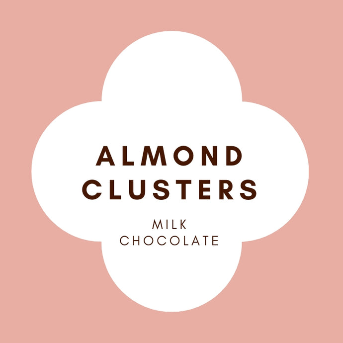 Almond Clusters | French Milk Chocolate | 42% Cacao | 100g