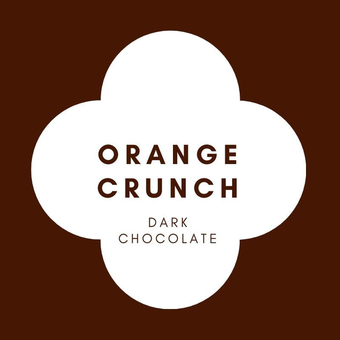 Orange Crunch | French Dark Chocolate | 70% Cacao | 80g