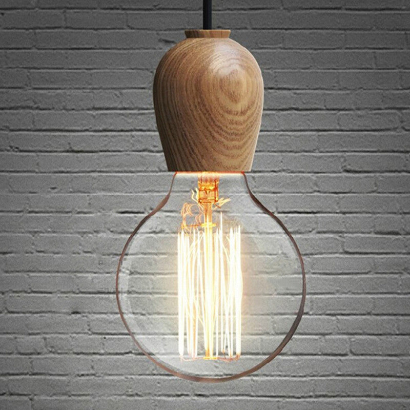 wooden cord Lamp