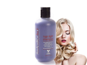 Purple Shampoo for Blonde or Highlighted Hair - Eliminates Brassiness and Yellow Tones - 100% Paraben Free & Cruelty Free Shampoo - (8.5 Fl Oz) Highlight Shampoo – Color Brightening Shampoo