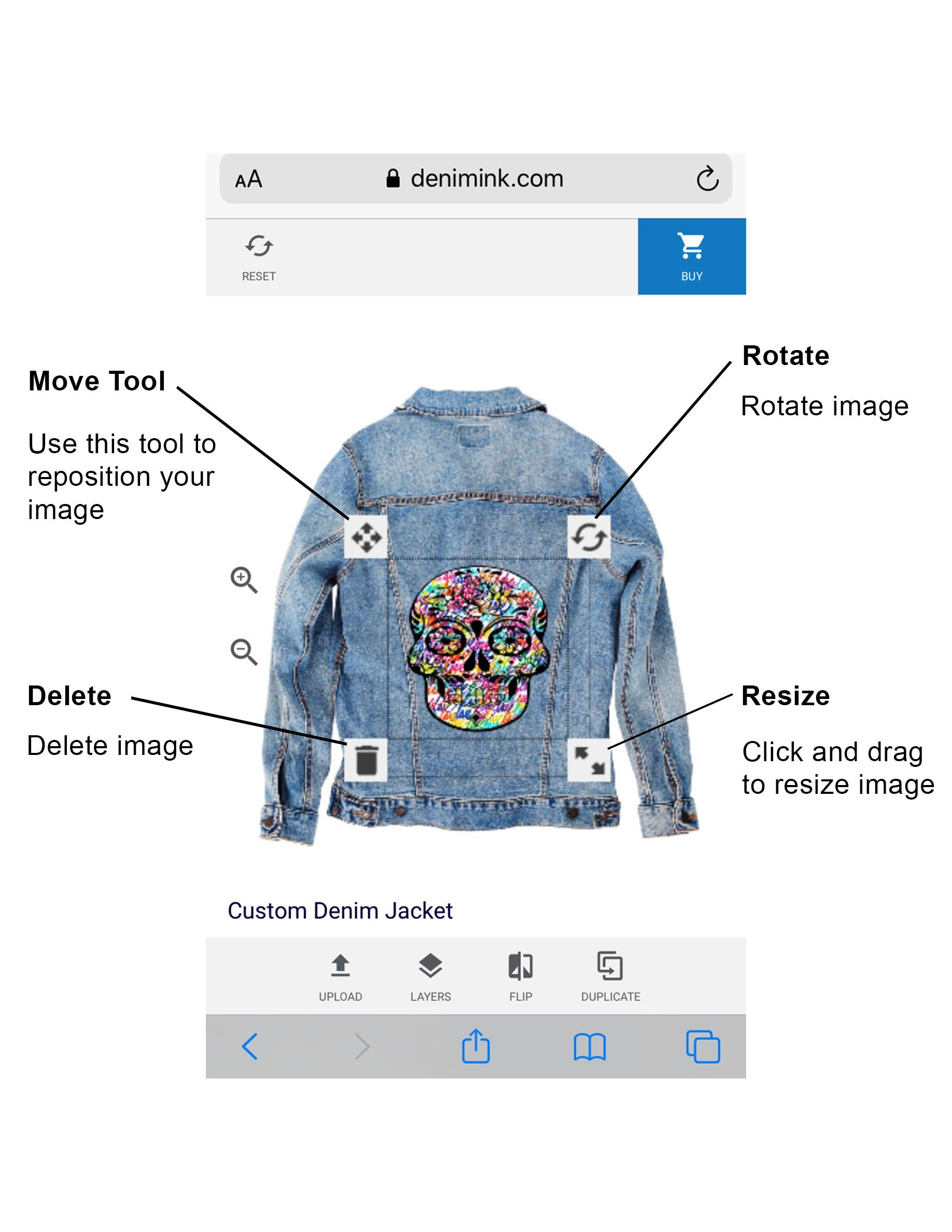 How to customize jean jacket online - Denim ink upload an image