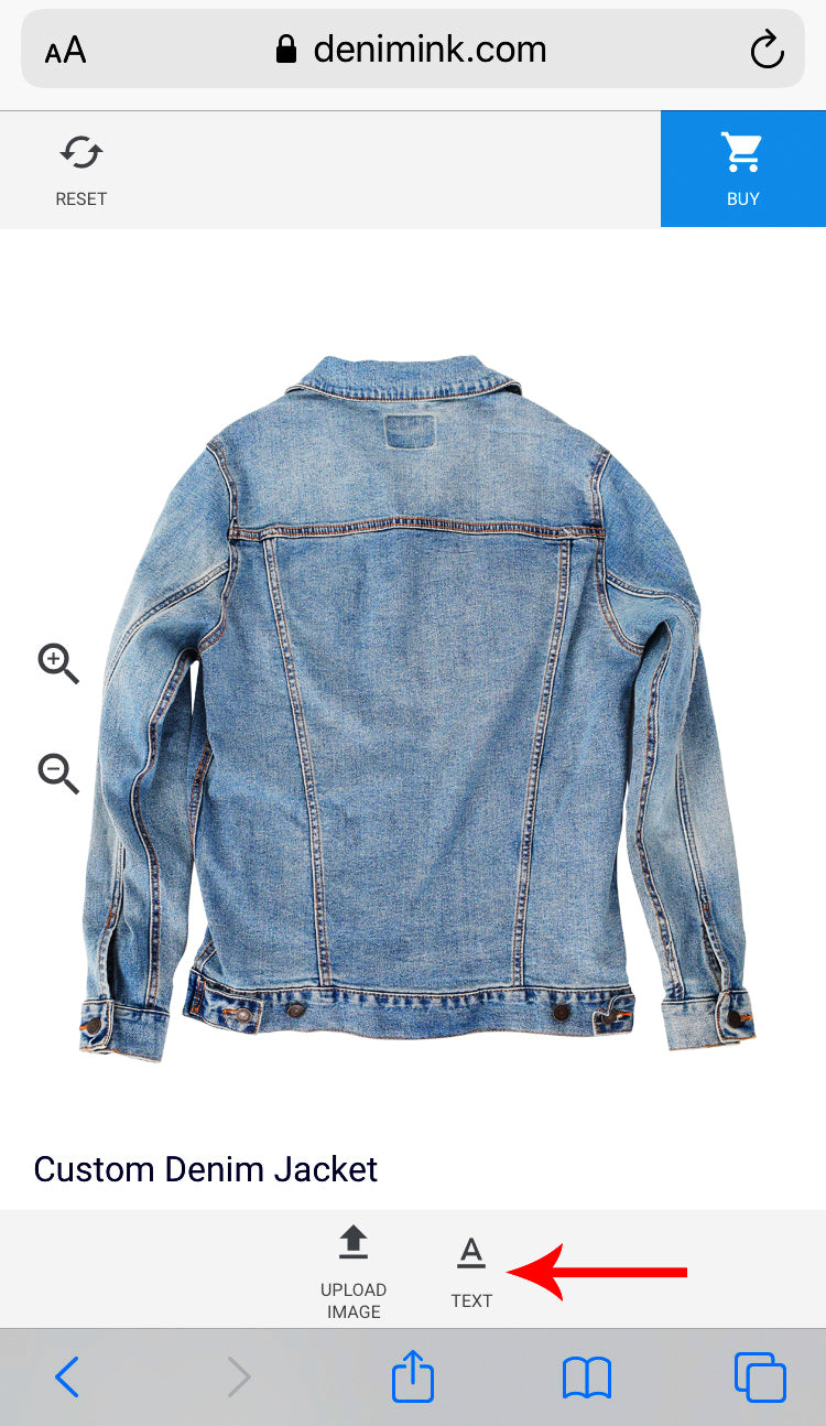 Denim INK how to customize jean jacket online add text