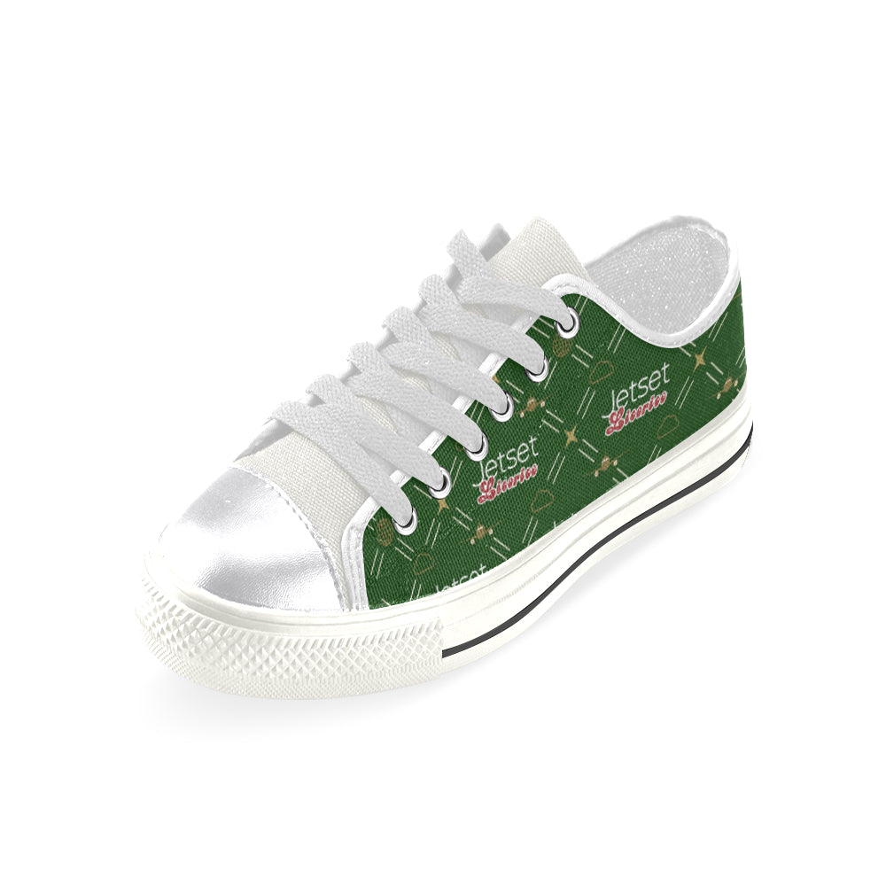 Jetset Licorice Women low top canvas shoes Inflight Collection (green/white) - Resort Pop
