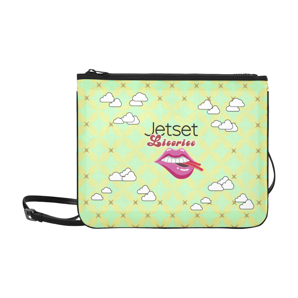 Jetset Licorice JuicySweet Collection travel clutch bag (limegreen) - Resort Pop