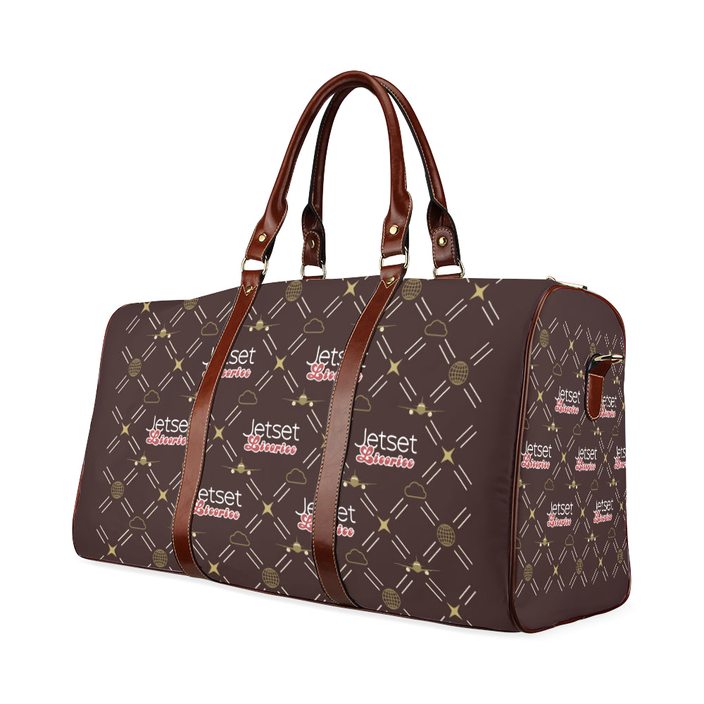 Jetset Licorice travel bag Inflight Collection (brown/brown) - Resort Pop